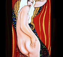 Cool Original Art Work Inspired By Gustav Klimt, Brett Whitely & Alphonse Mucha iphone 4 4s, iPhone 3Gs, iPod Touch 4g case. by ChrisDuffyArt