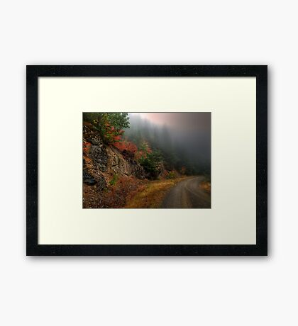 The Rush To Fall Framed Print