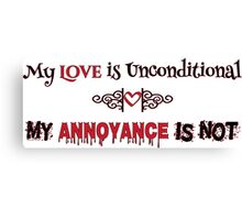 Love and Annoyance Canvas Print