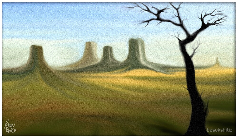 tree- digital painting by basukshitiz