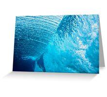 Underwater view of breaking wave in blue ocean Greeting Card