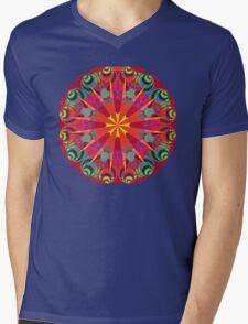 Mauve Star Mens V-Neck T-Shirt