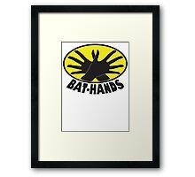 Bat_Hands Framed Print