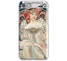 Vintage Alphonse Art Nouveau Poster iPhone Case/Skin