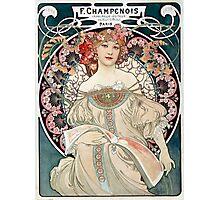 Vintage Alphonse Art Nouveau Poster Photographic Print