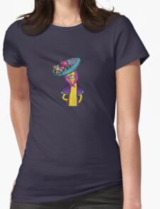 Banana with Robot Hat Womens T-Shirt