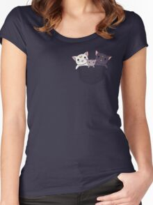 Pocket Kitties (All 3) Women's Fitted Scoop T-Shirt