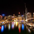 Nightlights of Darling Harbour Sydney NSW by MiImages