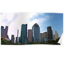 Downtown Houston Tx Bottom view Poster