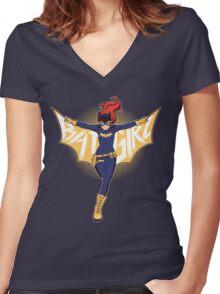 BatGirl Women's Fitted V-Neck T-Shirt