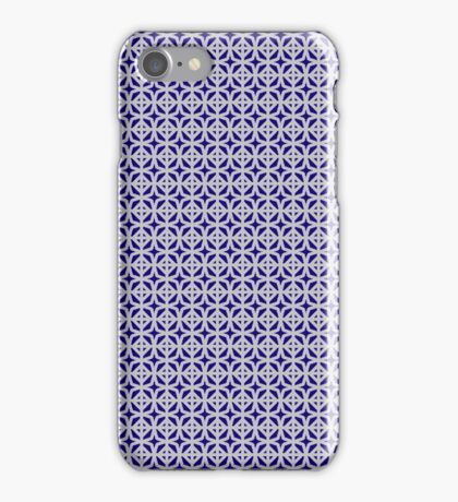 Fancy Pattern- Silver and Royal Blue iPhone Case/Skin