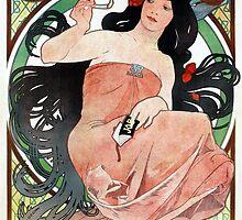 Alfons Mucha Art Nouveau Vintage Cigarette Advertisement by pdgraphics