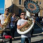 Jazz band, la festa dell'uva, Panicale, Umbria by Andrew Jones