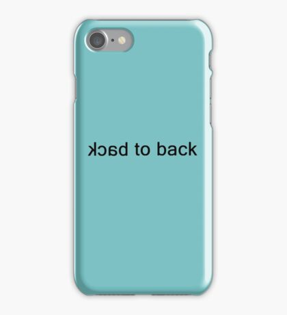 Back to Back 2 iPhone Case/Skin