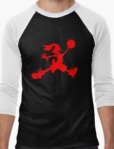 Hare Jordan [Red Logo] Men's Baseball ¾ T-Shirt