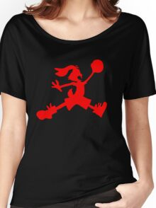 Hare Jordan [Red Logo] Women's Relaxed Fit T-Shirt