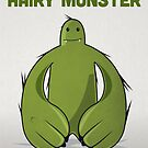"Big Green Monster - ""Happy Birthday Hairy Monster"" by David Wildish"