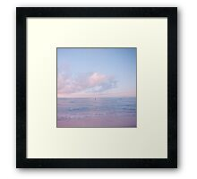 calm day ver.pink Framed Print