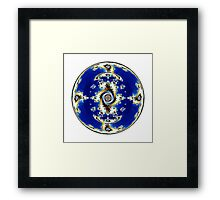 Blue Crystal Ball  Framed Print