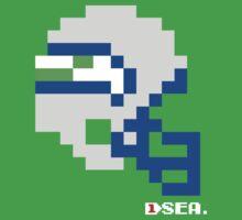 Tecmo Bowl - Seattle Seahawks - 8-bit - Mini Helmet shirt by QB Bills