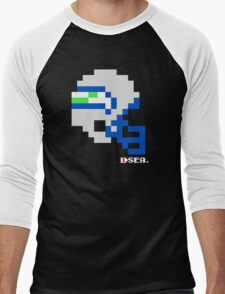 Tecmo Bowl - Seattle Seahawks - 8-bit - Mini Helmet shirt Men's Baseball ¾ T-Shirt