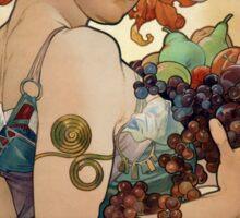 Alfons Mucha Vintage Le Fruit Sticker
