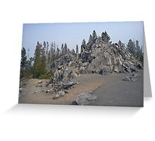 eruption aftermath Greeting Card