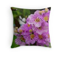 Lilac - with Raindrops Throw Pillow