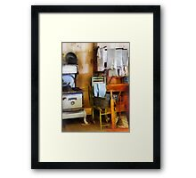 Laundry Drying in Kitchen Framed Print