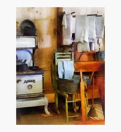 Laundry Drying in Kitchen Photographic Print