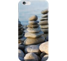 Seaside Pebble Towers iPhone Case/Skin