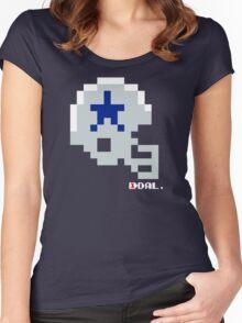 Tecmo Bowl - Dallas - 8-bit - Mini Helmet shirt Women's Fitted Scoop T-Shirt