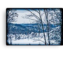 Winter Wonderland in Blue Canvas Print
