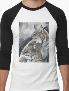 Lynx Pair  Men's Baseball ¾ T-Shirt