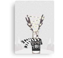 Christmas Bright Reindeer  Canvas Print