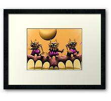 Cat Scratch Feevah Framed Print