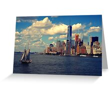 New York River Cruise Greeting Card