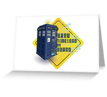 Doctor Who Tardis - Baby Timelord on Board Greeting Card