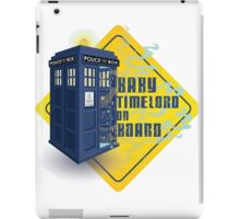 Doctor Who Tardis - Baby Timelord on Board iPad Case/Skin
