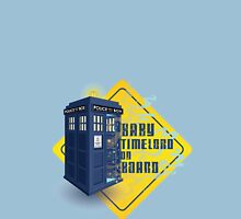 Doctor Who Tardis - Baby Timelord on Board Womens T-Shirt
