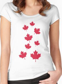 Canada maple leafs Women's Fitted Scoop T-Shirt