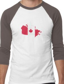 Canada map flag Men's Baseball ¾ T-Shirt