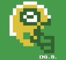 Tecmo Bowl - Green Bay - 8-bit - Mini Helmet shirt Baby Tee