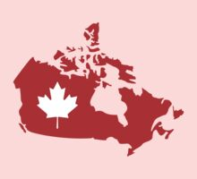 Canada map maple leaf Kids Clothes