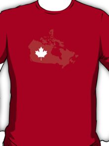Canada map maple leaf T-Shirt