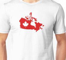 Canada map maple leaf Unisex T-Shirt