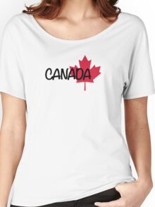 Canada maple leaf Women's Relaxed Fit T-Shirt