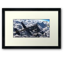 Out of the clouds. Framed Print