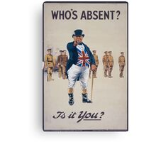 Whos absentIs it you 683 Canvas Print