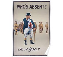Whos absentIs it you 683 Poster